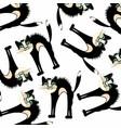 black cat pattern vector image vector image