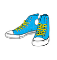 blue sneakers vector image vector image