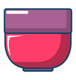 bowl icon cartoon style vector image