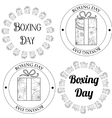 Boxing day stamps tags vector image vector image