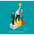 Businessman with Winner cup Winner concept vector image