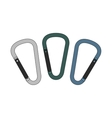 Carabiners set Color vector image vector image