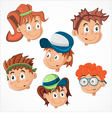 Children faces vector image
