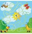 Childrens puzzle - maze vector image vector image
