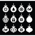Christmas ball Christmas bauble white icons vector image vector image