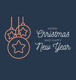 christmas greeting card retro or new vector image vector image