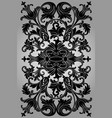 classic black ornament on a gray background vector image vector image