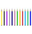collection of colored pencils vector image vector image