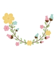 colorful decorative half arch with flowerbud vector image vector image