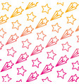 degraded line nice shooting star art background vector image vector image