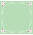 Delicate frame with orchid flowers vector image vector image
