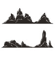 desert hills and mountains silhouettes vector image