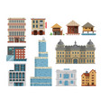 Different buildings hotels for tourist and vector image
