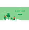 environment day landing page template vector image vector image