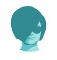 face of young woman wearing sunglasses vector image
