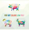 farm animal with polygonal geometric style vector image vector image