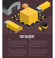 fast delivery isometric concept vector image