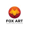 fox art logo vector image vector image