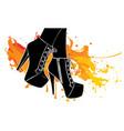 girls in high heels black silhouette vector image
