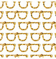 gold glasses seamless pattern on white backgroung vector image vector image