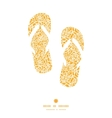golden lace roses flip flops silhouettes pattern vector image vector image