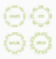 Green leaves frames vector image vector image
