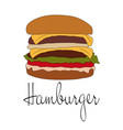 hamburger with cutle vector image vector image