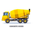 icon cement truck with pump hose vector image