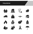insurance icons design for presentation graphic vector image vector image