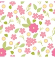 isolated seamless pattern flowers and vector image