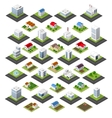 Isometric set of icons vector image vector image