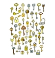 Keys collection sketch for your design vector image vector image