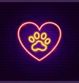 love pet neon sign vector image