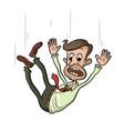 man falling down vector image vector image