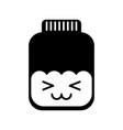mason jar bottle kawaii character vector image