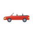modern cabriolet isolated icon vector image vector image