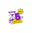only five days left - number 5 on flat geometric vector image vector image