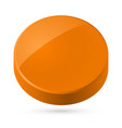 orange disk isolated on white background vector image vector image