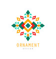 ornament logo design colorful decorative abstract vector image vector image