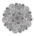 Ornamental winter hand-drawn lace snowflake Doodle vector image
