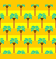 palm tree pattern seamless coconut tree background vector image vector image