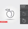 peach outline icon with shadow vector image vector image