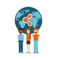 people sharing design vector image vector image