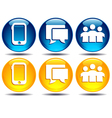 Phone Group Speech bubble communication icons vector image vector image