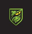 predator or raptor eye logo vector image vector image