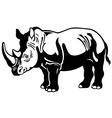 rhinoceros black white vector image vector image