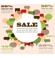 sale background with speech bubbles vector image vector image