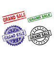 scratched textured grand sale seal stamps vector image vector image