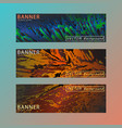 set of modern horizontal banners vector image