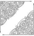 Set of Vintage Template with Ornate Lace Corners vector image